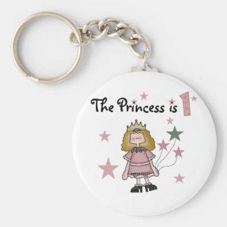 Princess 1st Birthday Tshirts and Gifts Keychain