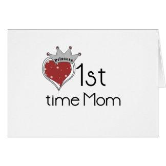 Princess 1st Time Mom Greeting Card