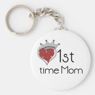Princess 1st Time Mom - Customized Keychain