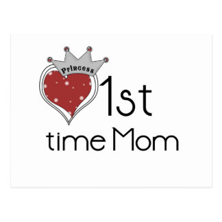 Princess 1st Time Mom Postcard