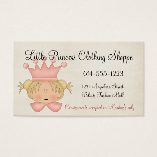 Princess 2 Child Business Cards