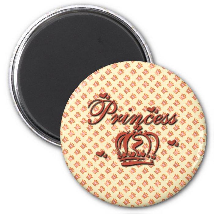 Princess 2 Inch Round Magnet