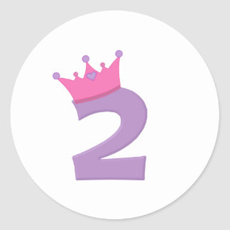 Princess 2 with Crown Classic Round Sticker
