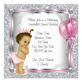 Princess 2nd Birthday Party Card