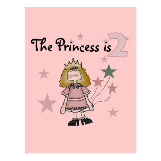 Princess 2nd Birthday Tshirts and Gifts Postcards