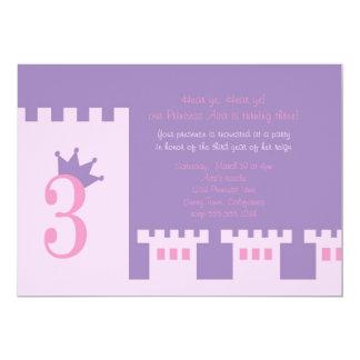 Princess 3rd birthday party invite