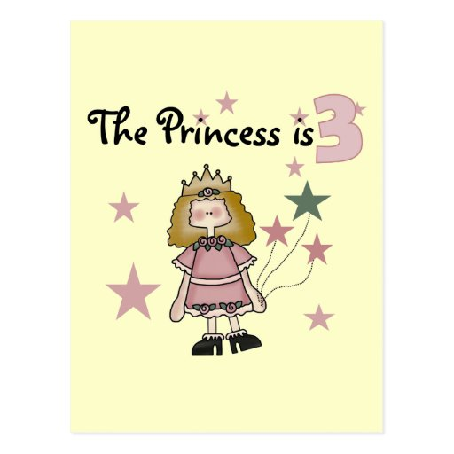 Princess 3rd Birthday Tshirts and Gifts Postcard