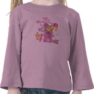 Princess 4th Birthday Shirt