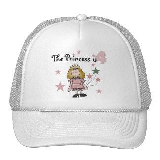 Princess 4th Birthday Tshirts and Gifts Trucker Hat