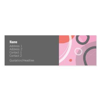 Princess Abstract Profile Card Mini Business Card