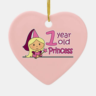 Princess Age 1 Ceramic Ornament