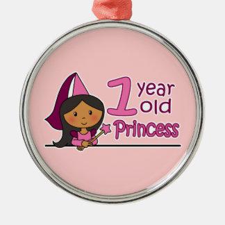 Princess Age 1 Metal Ornament