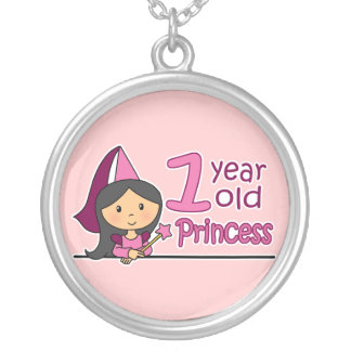 Princess Age 1 Silver Plated Necklace