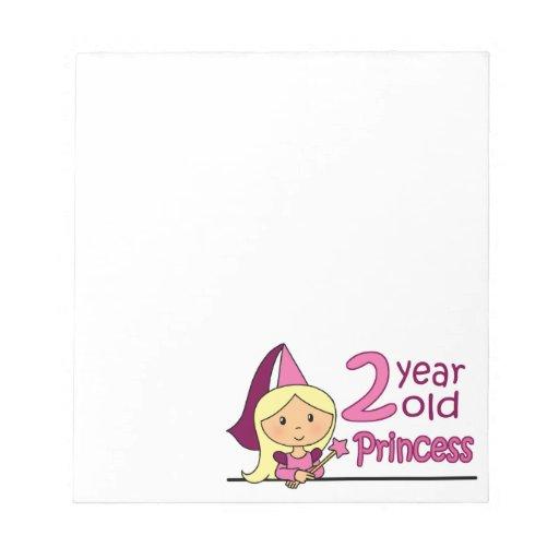 Princess Age 2 Memo Notepad