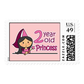 Princess Age 2 Postage Stamp