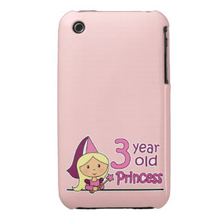 Princess Age 3 Case-Mate iPhone 3 Case
