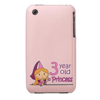 Princess Age 3 iPhone 3 Case-Mate Cases