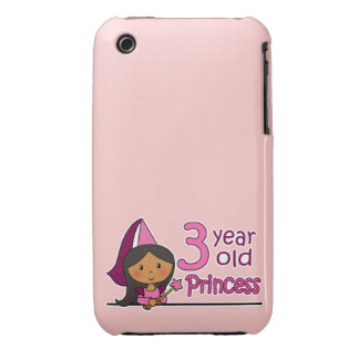 Princess Age 3 iPhone 3 Cases