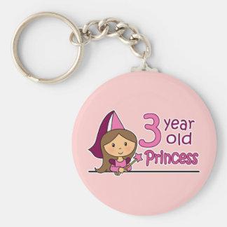 Princess Age 3 Keychain