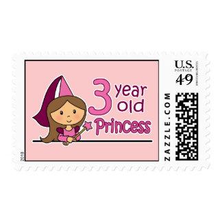 Princess Age 3 Postage