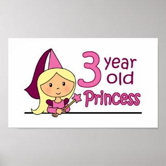 Princess Age 3 Print