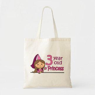 Princess Age 3 Tote Bag