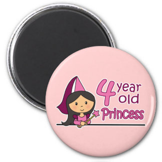 Princess Age 4 2 Inch Round Magnet