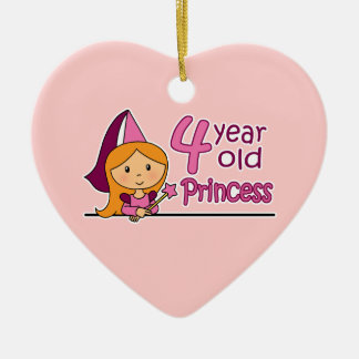 Princess Age 4 Ceramic Ornament