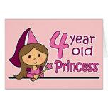 Princess Age 4 Greeting Card