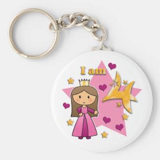Princess Age 4 Keychain