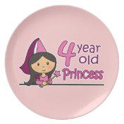 Princess Age 4 Plates