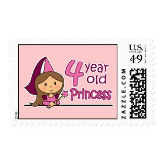 Princess Age 4 Postage