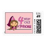 Princess Age 4 Postage Stamp