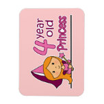 Princess Age 4 Rectangle Magnet
