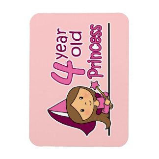 Princess Age 4 Rectangular Photo Magnet