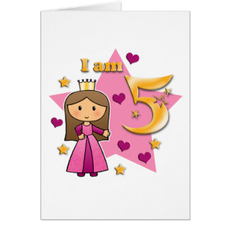 Princess Age 5 Card