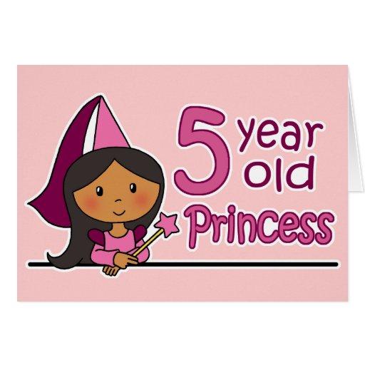 Princess Age 5 Card