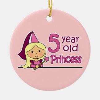 Princess Age 5 Ceramic Ornament