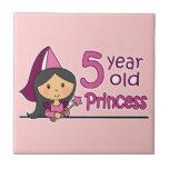 Princess Age 5 Ceramic Tiles