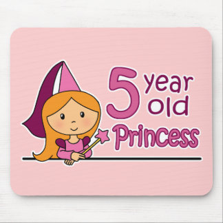 Princess Age 5 Mouse Pad