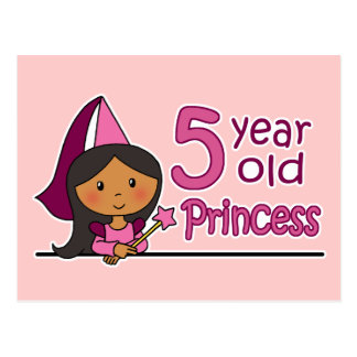 Princess Age 5 Postcard