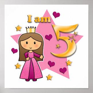 Princess Age 5 Print