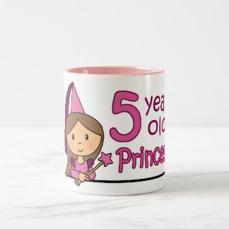 Princess Age 5 Two-Tone Coffee Mug