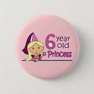 Princess Age 6 Button