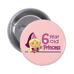 Princess Age 6 Button