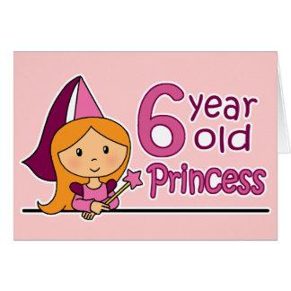 Princess Age 6 Card