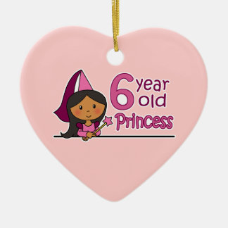 Princess Age 6 Ceramic Ornament