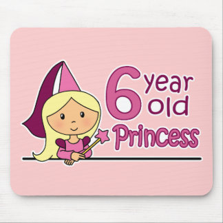 Princess Age 6 Mouse Pad