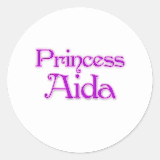 Princess Aida Classic Round Sticker