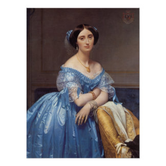 'Princess Albert de Broglie' Poster